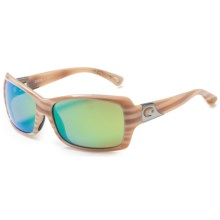 Costa Islamorada Sunglasses - Polarized , Mirrored 580P Lenses (For Women) in Morena/Green Mirror - Closeouts