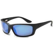 Costa Jose Sunglasses - Polarized, Mirrored 400G Glass Lenses in Blackout/Blue Mirror - Closeouts
