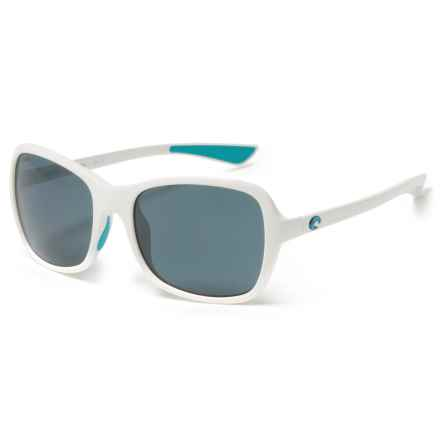Costa Kare Ocearch Sunglasses - Polarized 580P Lenses in Great White Ocearch/Gray - Closeouts