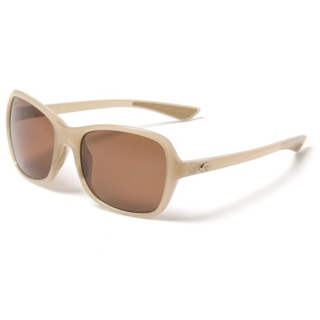 24a2793a07d2c Costa Kare Sunglasses - Polarized 580P Lenses (For Women) in Shiny Sand  Crystal