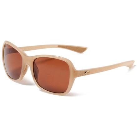 5381c40706 Costa Kare Sunglasses - Polarized 580P Lenses in Shiny Sand Crystal Copper