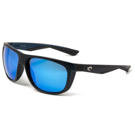 3e18c9e8458b3 Costa Kiwa Sunglasses - Polarized 400G Glass Mirror Lenses in Matte Black  Teak Blue