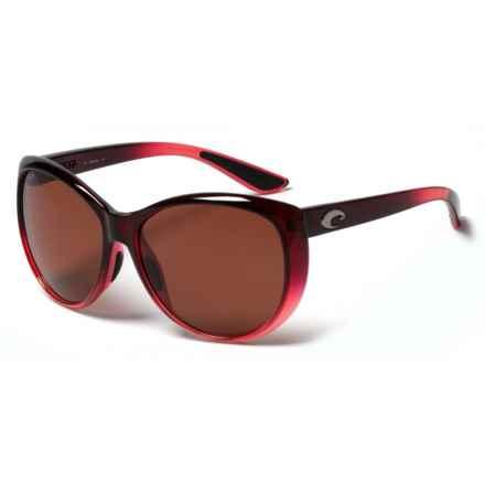 Costa La Mar Sunglasses - Polarized 580P Lenses (For Women) in Pomegranate Fade Copper - Closeouts