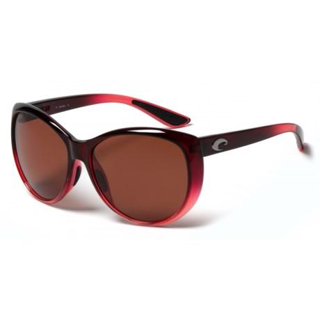 Costa La Mar Sunglasses - Polarized 580P Lenses (For Women) in Pomegranate Fade Copper