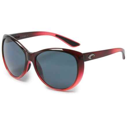 Costa La Mar Sunglasses - Polarized 580P Lenses (For Women) in Pomegranate/Fade Gray - Closeouts