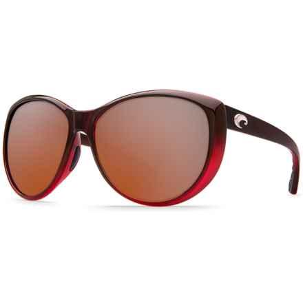 Costa La Mar Sunglasses - Polarized 580P Lenses (For Women) in Pomegranate Fade/Silver Mirror - Closeouts