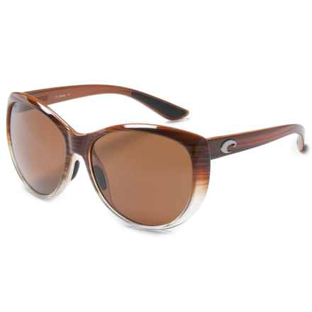 Costa La Mar Sunglasses - Polarized 580P Lenses (For Women) in Wood Fade/Amber - Closeouts
