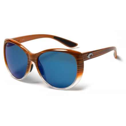 Costa La Mar Sunglasses - Polarized 580P Lenses (For Women) in Wood Fade/Blue - Closeouts