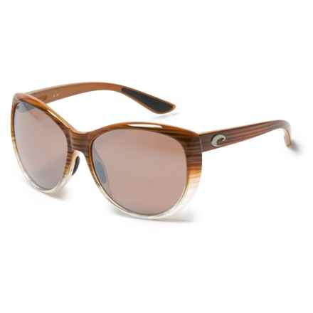 Costa La Mar Sunglasses - Polarized 580P Lenses (For Women) in Wood Fade/Silver Mirror - Closeouts