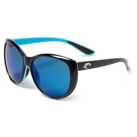 4e4ea10660 Costa La Mar Sunglasses - Polarized 580P Mirror Lenses (For Women) in Black