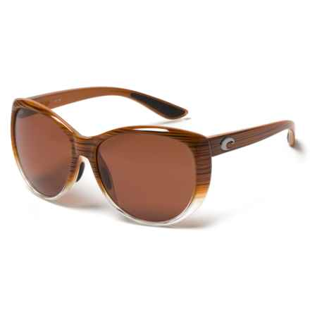 Costa La Mar Sunglasses - Polarized 580P Mirror Lenses (For Women) in Wood Fade Copper - Closeouts