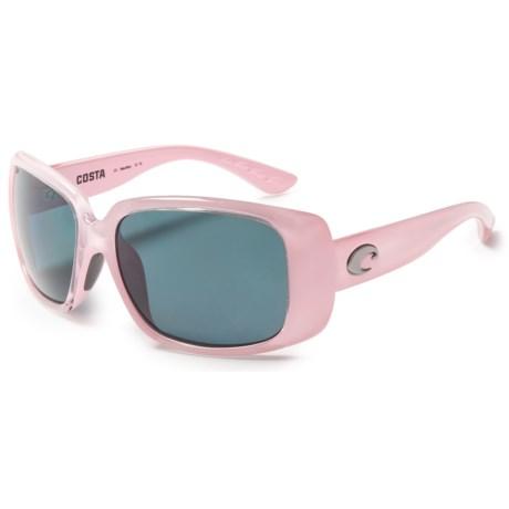 Costa Little Harbor Kenny Chesney Sunglasses - Polarized 580P Lenses in Coral/Gray
