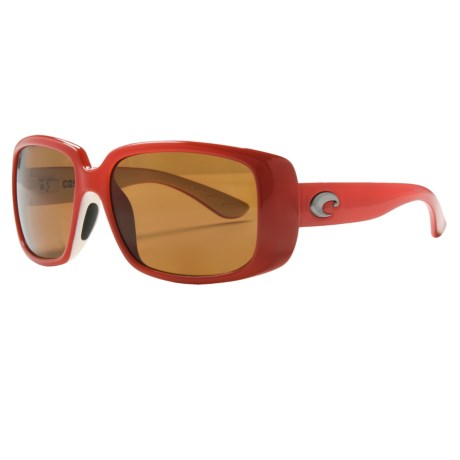Costa Little Harbor Kenny Chesney Sunglasses - Polarized 580P Lenses in Coral White/Amber 580P