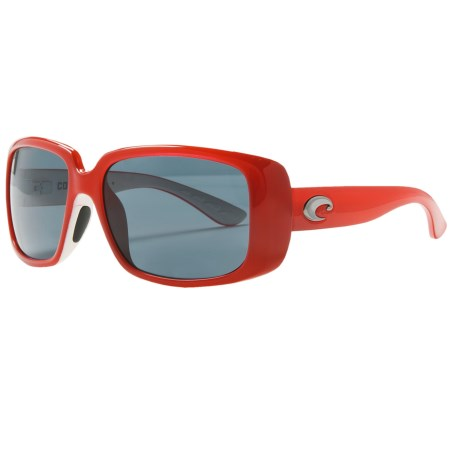 Costa Little Harbor Kenny Chesney Sunglasses - Polarized 580P Lenses in Coral White/Dark Grey 580P