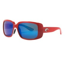 Costa Little Harbor Sunglasses - Polarized, 400G LightWAVE® Glass Mirror Lenses in Coral White/Blue Mirror 400G - Closeouts