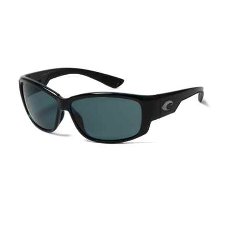 Costa Luke Sunglasses - Polarized 580P Lenses in Shiny Black/Gray - Closeouts