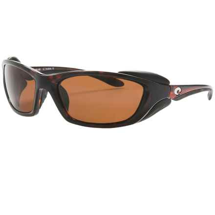 Costa Man-O-War Sunglasses - Polarized CR-39® Lenses in Tortoise/Dark Vermillion Cr-39 - Closeouts
