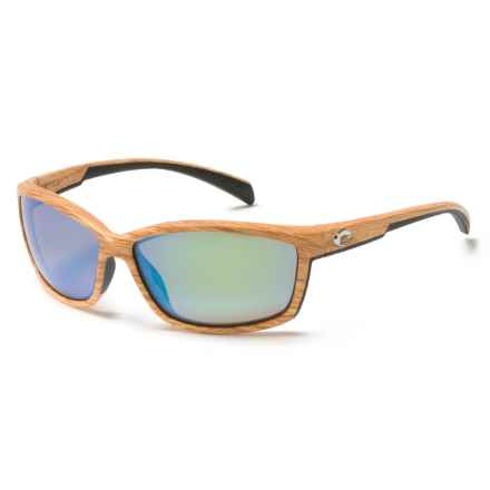 Costa Manta Sunglasses - Polarized, 400G Glass Mirror Lenses in Ashwood/Green Mirror - Closeouts