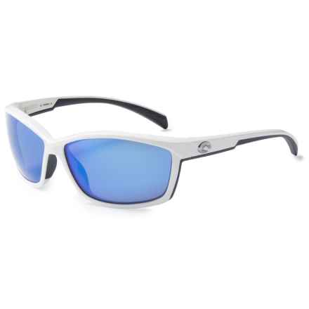 Costa Manta Sunglasses - Polarized 400G Glass Mirror Lenses in White/Blue Mirror - Closeouts