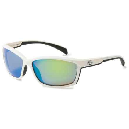 Costa Manta Sunglasses - Polarized 400G Glass Mirror Lenses in White/Green Mirror - Closeouts