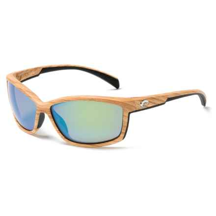 Costa Manta Sunglasses - Polarized 400G Mirror Lenses in Ashwood/Green Mirror - Closeouts