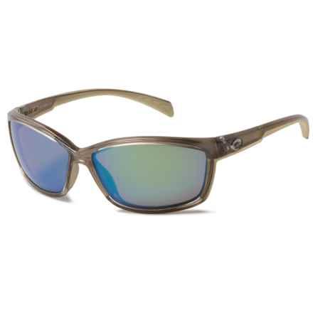 Costa Manta Sunglasses - Polarized 400G Mirror Lenses in Crystal/Bronze/Green Mirror - Overstock