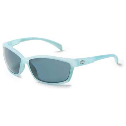 Costa Manta Sunglasses - Polarized 580P Lenses in Matte Ocean/Gray - Closeouts