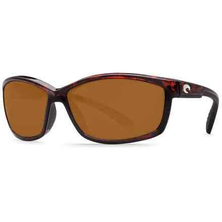 Costa Manta Sunglasses - Polarized 580P Lenses in Tortoise/Amber - Closeouts