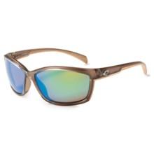 Costa Manta Sunglasses - Polarized, Mirrored 400G Lenses in Crystal Bronze/Green Mirror - Closeouts