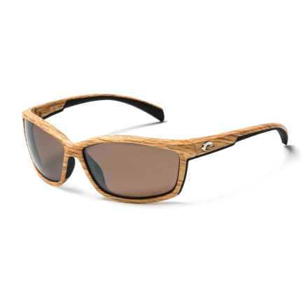Costa Manta Sunglasses - Polarized, Mirrored 580G Glass Lenses in Ashwood/Silver Mirror - Closeouts
