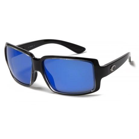 Costa Miss Britt Sunglasses - Polarized LightWAVE® 400G Glass Lenses (For Women) in Squall Blue Mirror