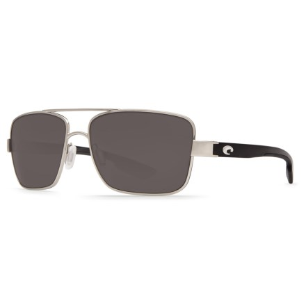 8d66d5af4e Costa North Turn Sunglasses - Polarized 580G Glass Lenses in Palladium Shiny  Black Gray