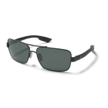 Costa North Turn Sunglasses - Polarized 580G Lenses in Matte Black/Red/Gray - Overstock