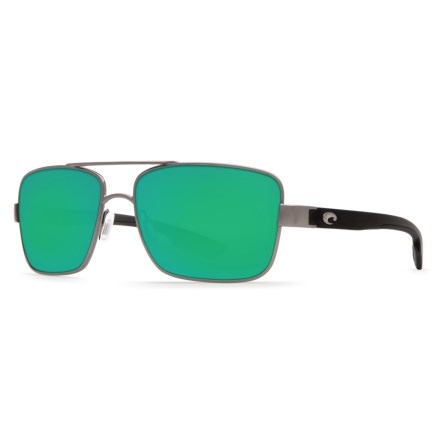 30d2e42b4821f Costa North Turn Sunglasses - Polarized 580G Mirror Lenses in Gunmetal Matte  Black Green