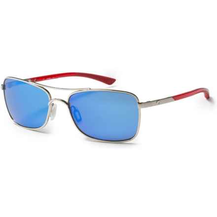 Costa Palapa Sunglasses - Polarized 400G Glass Mirror Lenses in Palladium Crystal Red Temples/Blue Mirror - Closeouts