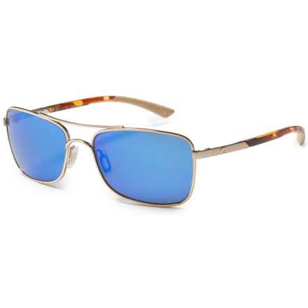 Costa Palapa Sunglasses - Polarized 400G Glass Mirror Lenses in Rose Gold/Blue Mirror - Closeouts