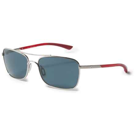 Costa Palapa Sunglasses - Polarized 580P Lenses in Palladium/Crystal Red Temples/Gray - Closeouts