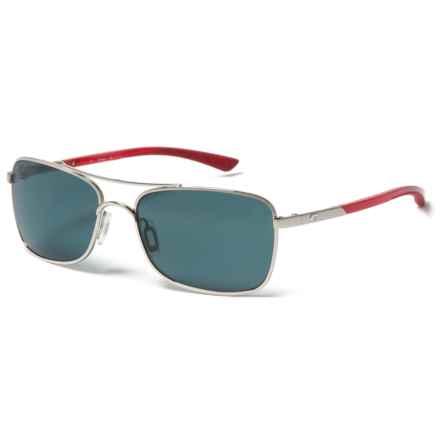 Costa Palapa Sunglasses - Polarized 580P Lenses in Palladium/Red Temples/Gray - Closeouts