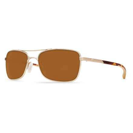 Costa Palapa Sunglasses - Polarized 580P Lenses in Rose Gold/Amber - Closeouts