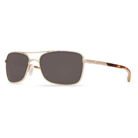 Costa Palapa Sunglasses - Polarized 580P Lenses in Rose Gold Gray - Closeouts