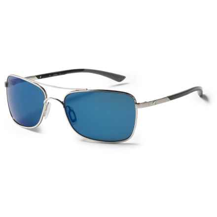 Costa Palapa Sunglasses - Polarized 580P Mirror Lenses in Palladium/Blue Mirror - Closeouts