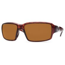 Costa Peninsula Sunglasses - Polarized 400P Lenses in Tortoise/Dark Amber Cr39 - Closeouts