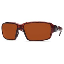 Costa Peninsula Sunglasses - Polarized 580G Glass Lenses in Tortoise/Copper 580G - Closeouts