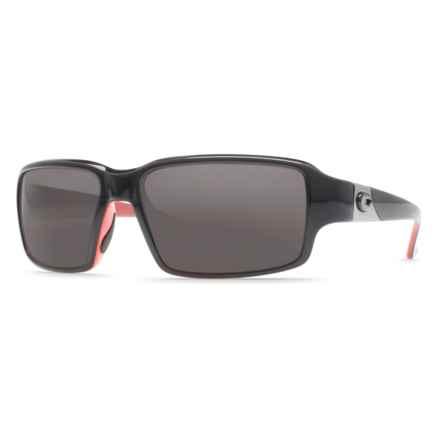 Costa Peninsula Sunglasses - Polarized 580P Lenses in Black Coral/Grey 580P - Closeouts