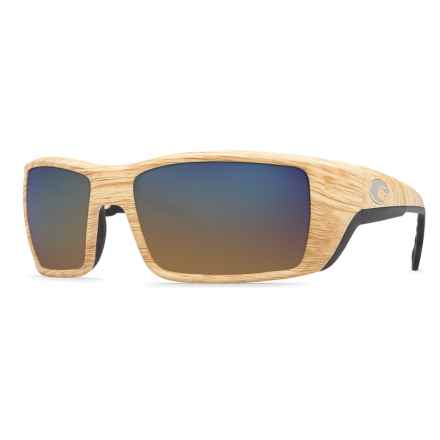 Costa Permit Sunglasses - Polarized 400G Glass Mirror Lenses in Ashwood/Blue Mirror - Closeouts