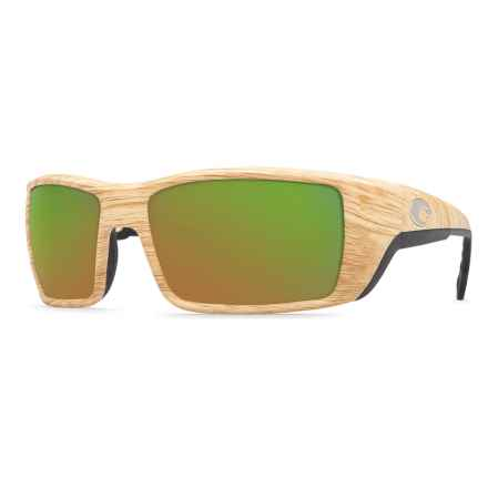 Costa Permit Sunglasses - Polarized 400G Glass Mirror Lenses in Ashwood/Green Mirror - Closeouts