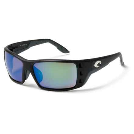 Costa Permit Sunglasses - Polarized 400G Glass Mirror Lenses in Matte Black Global Fit/Green Mirror - Closeouts