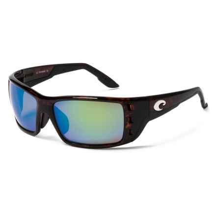 Costa Permit Sunglasses - Polarized 400G Glass Mirror Lenses in Tortoise Global Fit/Green Mirror - Closeouts