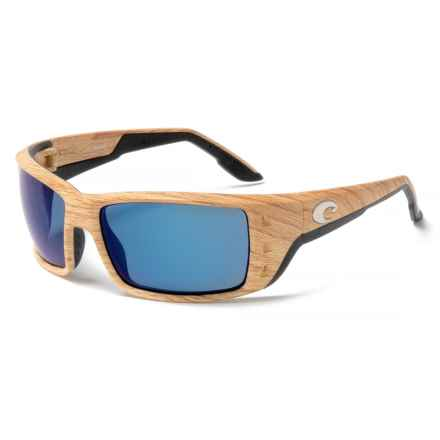 Costa Permit Sunglasses - Polarized Mirror 580P Lenses in Ashwood/Blue Mirror - Closeouts