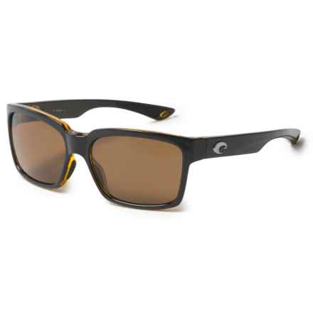 Costa Playa Sunglasses - Polarized 580P Lenses in Black Amber/Amber - Closeouts